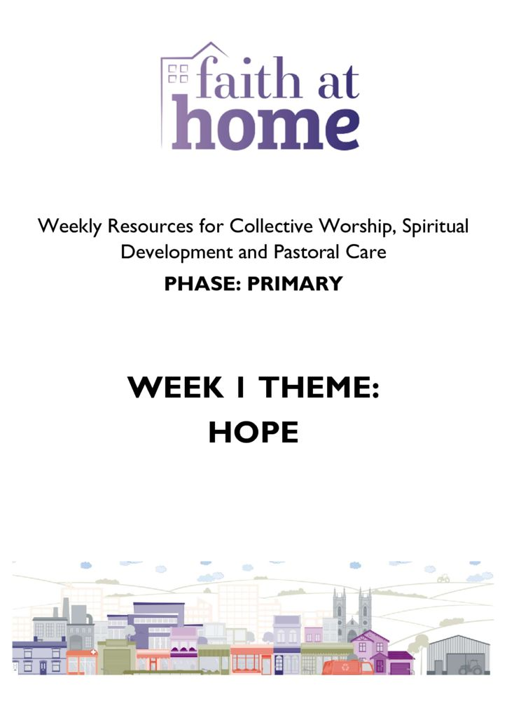thumbnail of Week 1 Resources – HOPE (Primary)